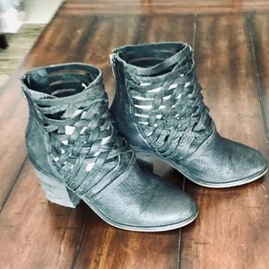Distressed Free People bootie